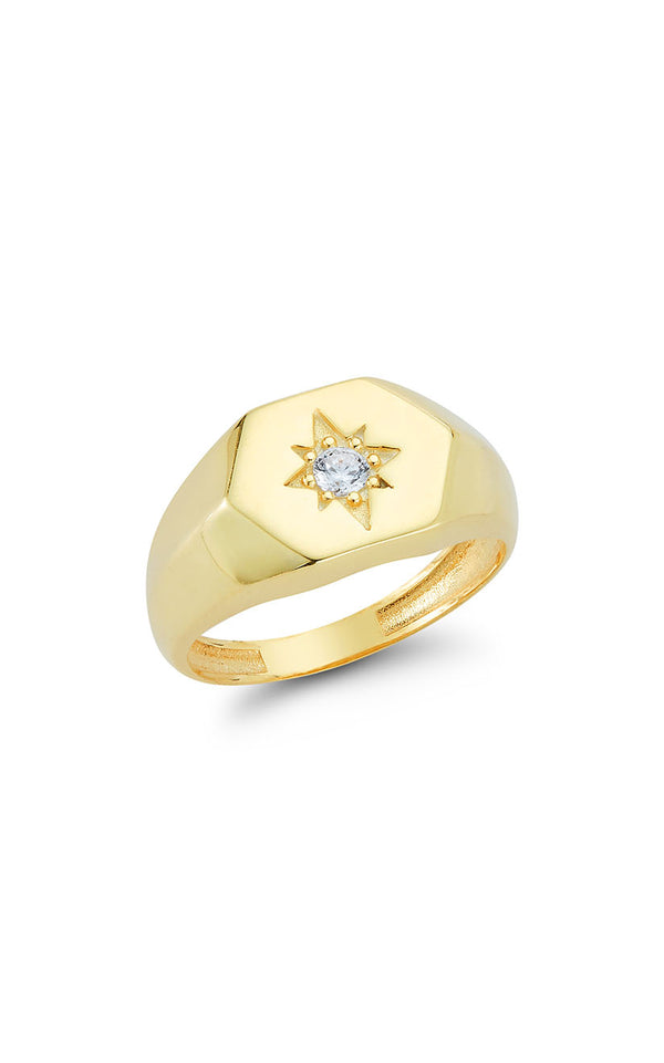 Star Signet Ring - Sphera Milano