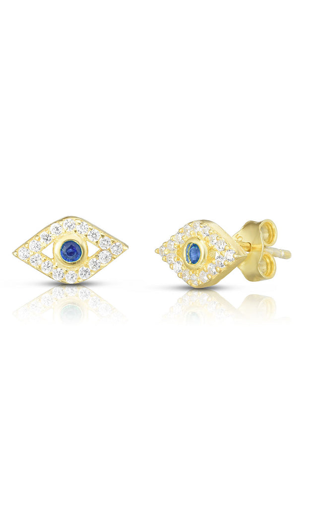 Emma Evil Eye Stud Earrings
