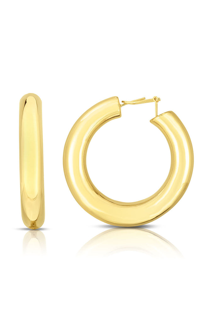 Jumbo XL Thick Tube Hoop Earring - Sphera Milano