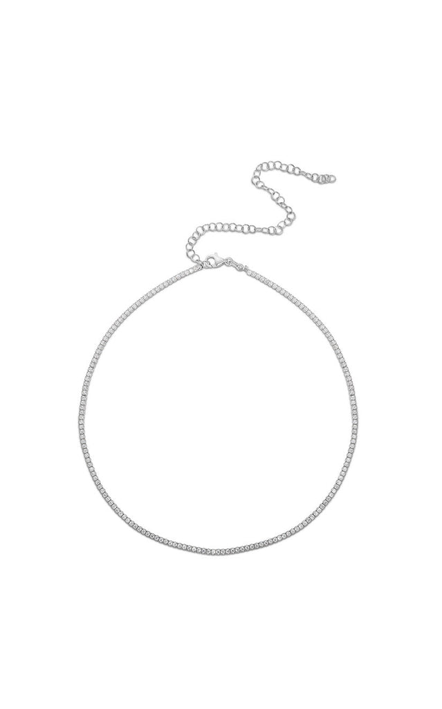 Dainty Tennis Choker Necklace - Sphera Milano