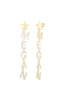 Pavé Block Name Drop Stud Earring - Sphera Milano