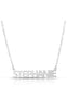 Solid Nameplate Pendant Necklace - Sphera Milano