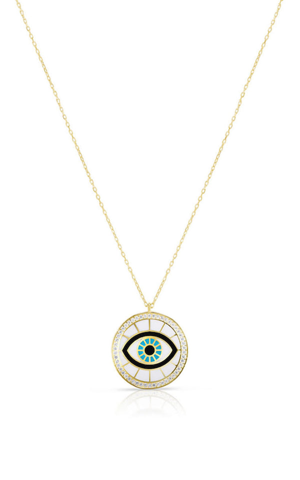 Evil Eye Enamel Necklace - Sphera Milano