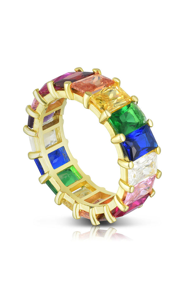 Rainbow Baguette Eternity Band - Sphera Milano