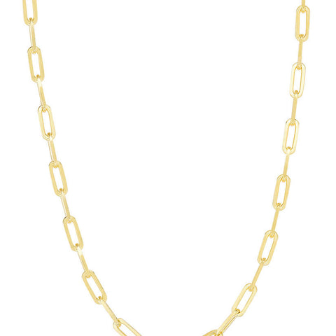 Paperclip Link Chain Necklace - Sphera Milano
