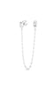 CZ Emerald Cut Chain Stud Earring - Sphera Milano