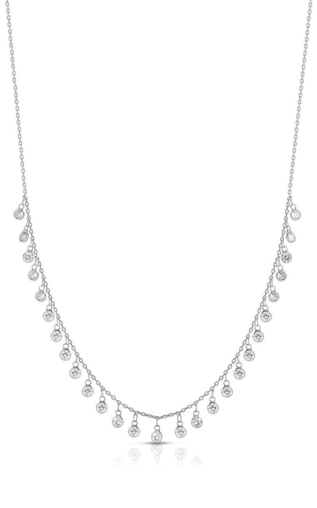 Dangling CZ Charm Necklace - Sphera Milano