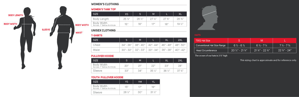 Sizing Guide info
