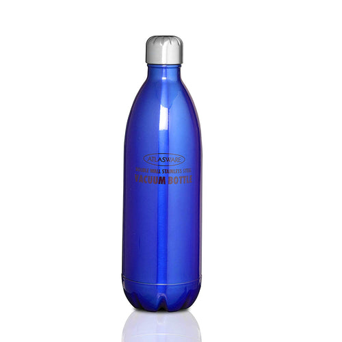 Atlasware Stainless Steel Vacuum Bottle Dark Blue (1000 ml) IPL Offers