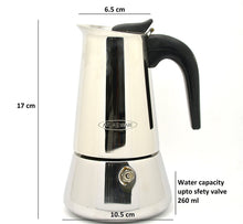 ATLASWARE Dizzart Stainless Steel Espresso Coffee Percolator (4 Cups)