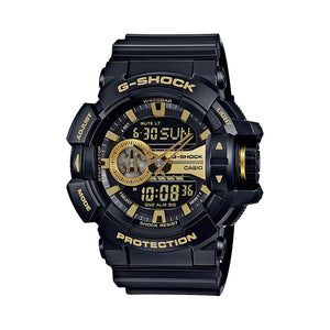 Casio Men's Black Dial Silicone Band Watch - GA-400GB-1A9DR