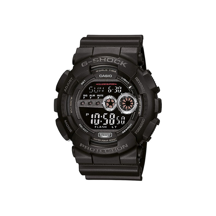 Casio Men's Black Dial Silicone Band Watch - GD-100-1BDR
