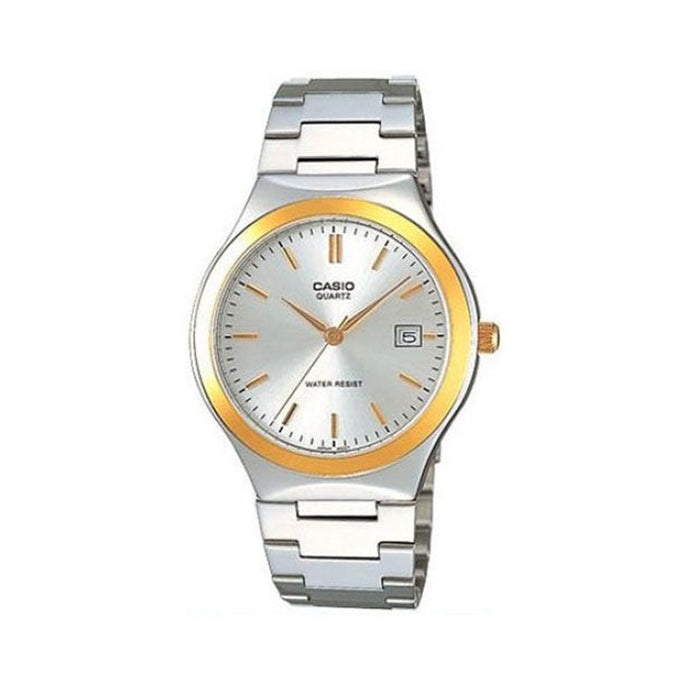 Casio Men's Grey Dial Stainless Steel Band Watch - MTP-1170G-7ADF