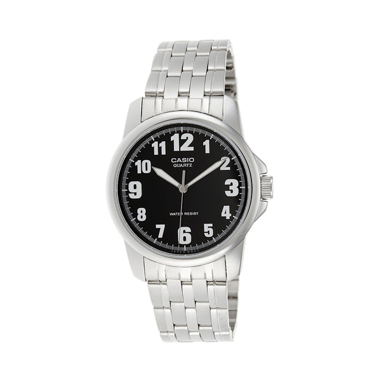 Casio for Men Analog MTP-1216A-1BDF Stainless Steel Watch