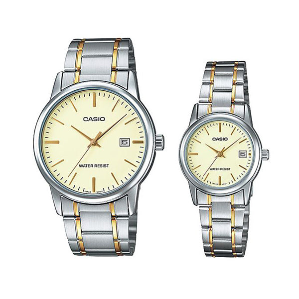 Casio for Men - Analog MTP/LTP-V002SG-9AUDF Stainless Steel Watch