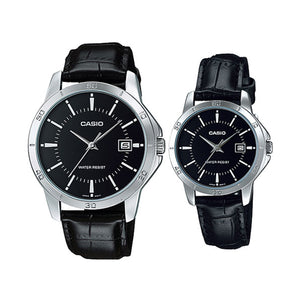 Casio Casual Watch For Unisex Analog Leather - MTP/LTP-V004L-1A