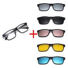 MAGNETIC SUNGLASSES 6 Color Options in 1 Sun Glass.