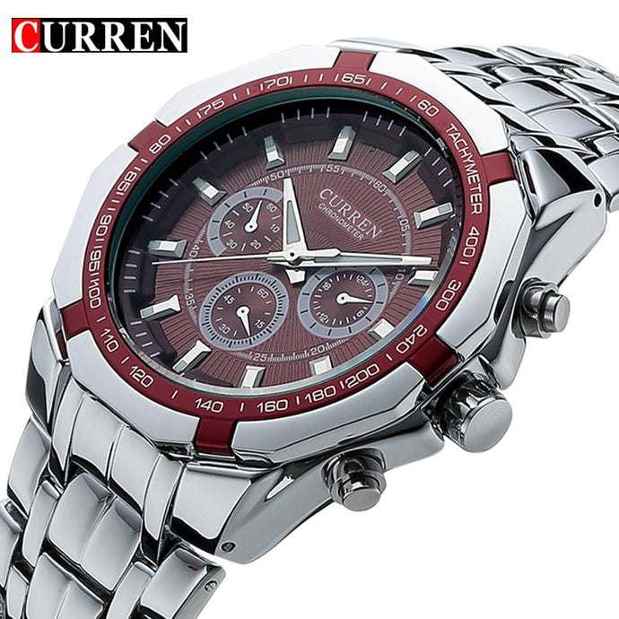 Top Brand Luxury Watch CURREN Casual Military Quartz Sports Wristwatch Full Steel Waterproof Men's Clock Relogio Masculino