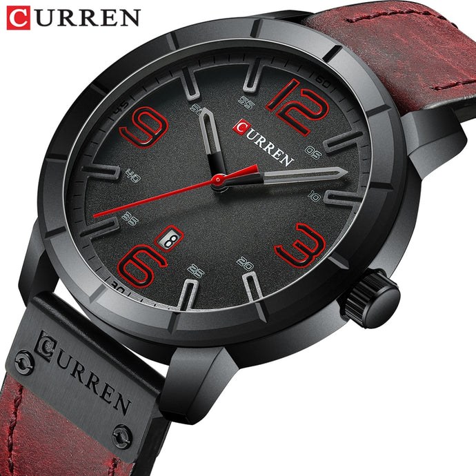 Men Watch 2019 CURREN Men's Quartz Wristwatches Male Clock Top Brand Luxury Reloj Hombres Leather Wrist Watches with Calendar