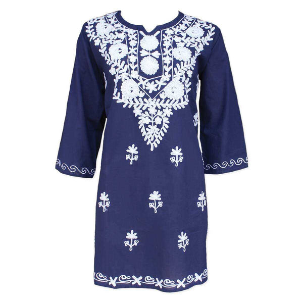 Boho Chic Embroidered Cotton Tunic | TheBohoShop