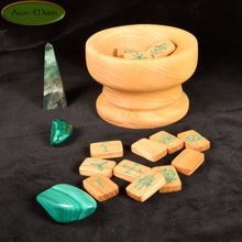 NEW*** Ash Witches Runes with Malachite inlay (ASMW1) - Aeon Moon