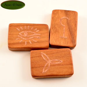 Witches Runes - Cherry with Copper inlay (CCPW1) - Aeon Moon