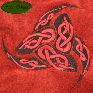 Horns of Odin - All Natural Cotton Velvet and Silk Tarot, Oracle, or Crystal bag - Aeon Moon