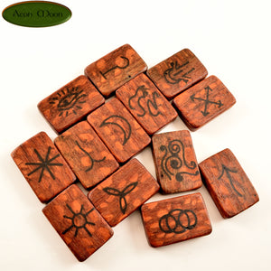 Witches Runes - Leopard Wood with Jet inlay (LJTW1) - Aeon Moon