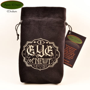 Eye of Newt - All Natural Cotton Velvet and Silk Tarot, Oracle, or Crystal bag - Aeon Moon