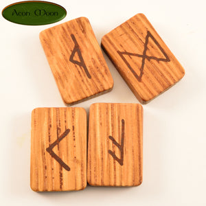 Oak Norse Runes with Red Hematite (ORHN1) - Aeon Moon