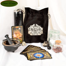 Poison - All Natural Cotton Velvet and Silk Tarot, Oracle, or Crystal bag - Aeon Moon