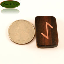 Rosewood Norse Runes with Copper inlay (RCPN1) - Aeon Moon