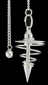Spiral silver plated pendulum - Aeon Moon