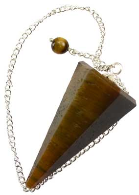 6-sided Tiger Eye pendulum - Aeon Moon
