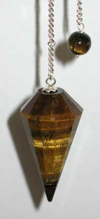 Tiger Iron 6 Faceted pendulum - Aeon Moon