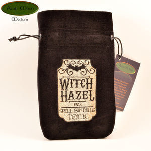 Witch Hazel - All Natural Cotton Velvet and Silk Tarot, Oracle, or Crystal bag - Aeon Moon