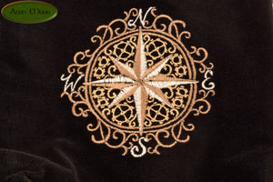 Clockwork Compass - All Natural Cotton Velvet and Silk Tarot, Oracle, or Crystal bag - Aeon Moon