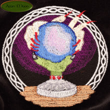 CLEARANCE*** The Crystal Ball - All Natural Cotton Velvet and Silk Tarot, Oracle, or Crystal bag - Aeon Moon