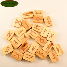 Cottonwood Norse Runes with Copper Inlay (CTCN1) - Aeon Moon