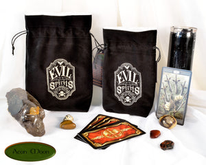 Evil Spirits - All Natural Cotton Velvet and Silk Tarot, Oracle, or Crystal bag - Aeon Moon