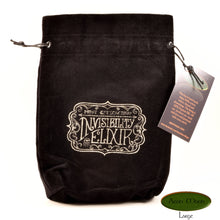 Invisibility Elixer - All Natural Cotton Velvet and Silk Tarot, Oracle, or Crystal bag - Aeon Moon