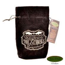 Toil & Trouble - All Natural Cotton Velvet and Silk Tarot, Oracle, or Crystal bag - Aeon Moon