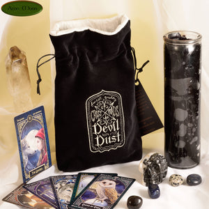 Devil Dust - All Natural Cotton Velvet and Silk Tarot, Oracle, or Crystal bag - Aeon Moon