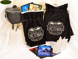 Toil & Trouble - All Natural Cotton Velvet and Silk Tarot, Oracle, or Crystal bag