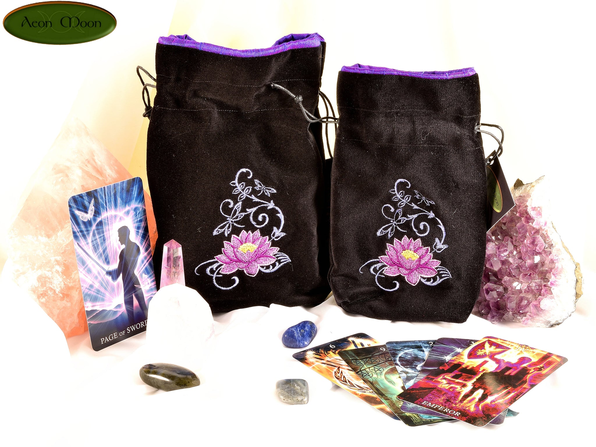 Lotus All Natural Cotton Velvet And Silk Tarot Oracle Or Crystal