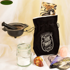 Bone Powder - All Natural Cotton Velvet and Silk Tarot, Oracle, or Crystal bag - Aeon Moon