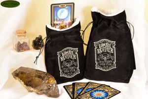 Zombie Reviver - All Natural Cotton Velvet and Silk Tarot, Oracle, or Crystal bag - Aeon Moon