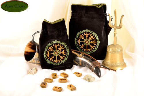 Vegvisir - All Natural Cotton Velvet and Silk Tarot, Oracle, or Crystal bag