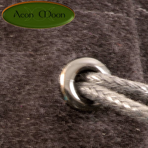 Gemini - Small All Natural Cotton Velvet and Silk Pendulum or Crystal bag - Aeon Moon