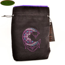 Mehndi Moon- All Natural Cotton Velvet and Silk Tarot, Oracle, or Crystal bag - Aeon Moon